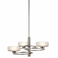 Kichler 43364CLP Aleeka Modern Classic Pewter Finish 12.75  Tall Halogen Chandelier Lighting