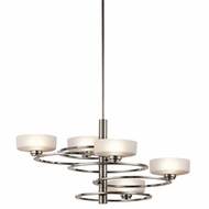 Kichler 43365CLP Aleeka Contemporary Classic Pewter Finish 34  Wide Halogen Lighting Chandelier