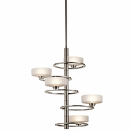 Kichler 43366CLP Aleeka Modern Classic Pewter Finish 31  Tall Halogen Chandelier Lamp