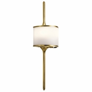 Kichler 43375NBR Mona Contemporary Natural Brass Halogen Lamp Sconce