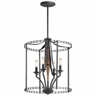 Kichler 43420DBK Clague Distressed Black Foyer Lighting