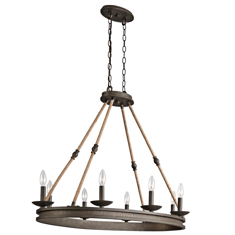 Kichler 43422oz Kearn Country Olde Bronze Finish 23 75 Quot Wide Island Light Fixture Kic 43422oz