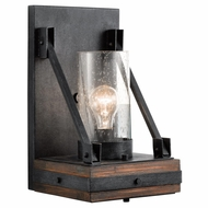 Kichler 43436AUB Colerne Rustic Auburn Stained Finish Finish 14.75  Tall Light Sconce