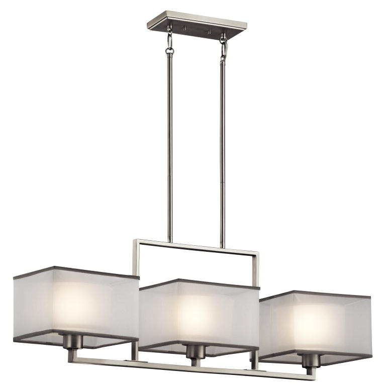 Shop Cascadia Lighting Avalon 8-in W 3-Light Brushed Nickel ...