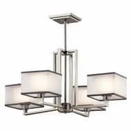Kichler 43438NI Kailey Modern Brushed Nickel Finish 13.25  Tall Hanging Chandelier