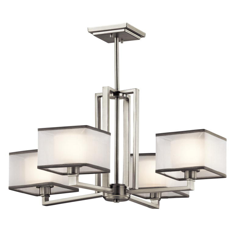 Kichler 43438ni kailey modern brushed nickel finish 1325 tall kichler 43438ni kailey modern brushed nickel finish 1325nbsp tall hanging chandelier loading zoom aloadofball Image collections