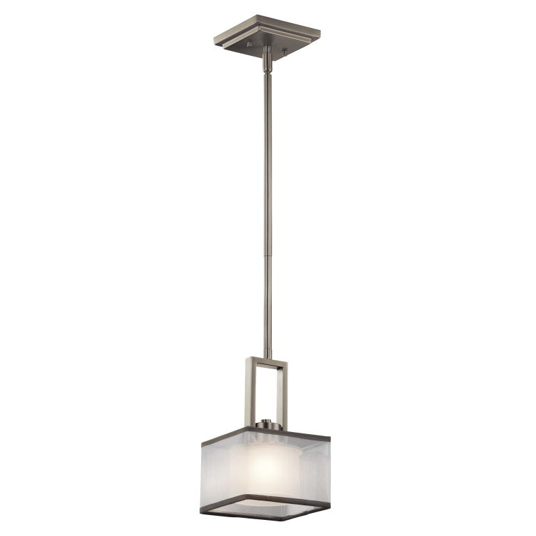Kichler 43442ni kailey contemporary brushed nickel finish 6 wide halogen mini hanging pendant lighting loading zoom