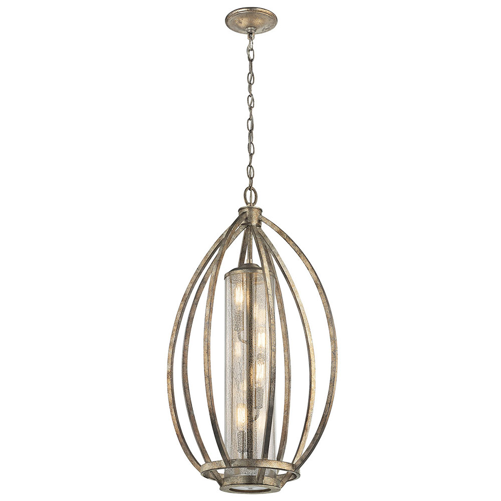 Kichler 43451SGD Savanna Modern Sterling Gold Foyer Light Fixture. Loading  Zoom