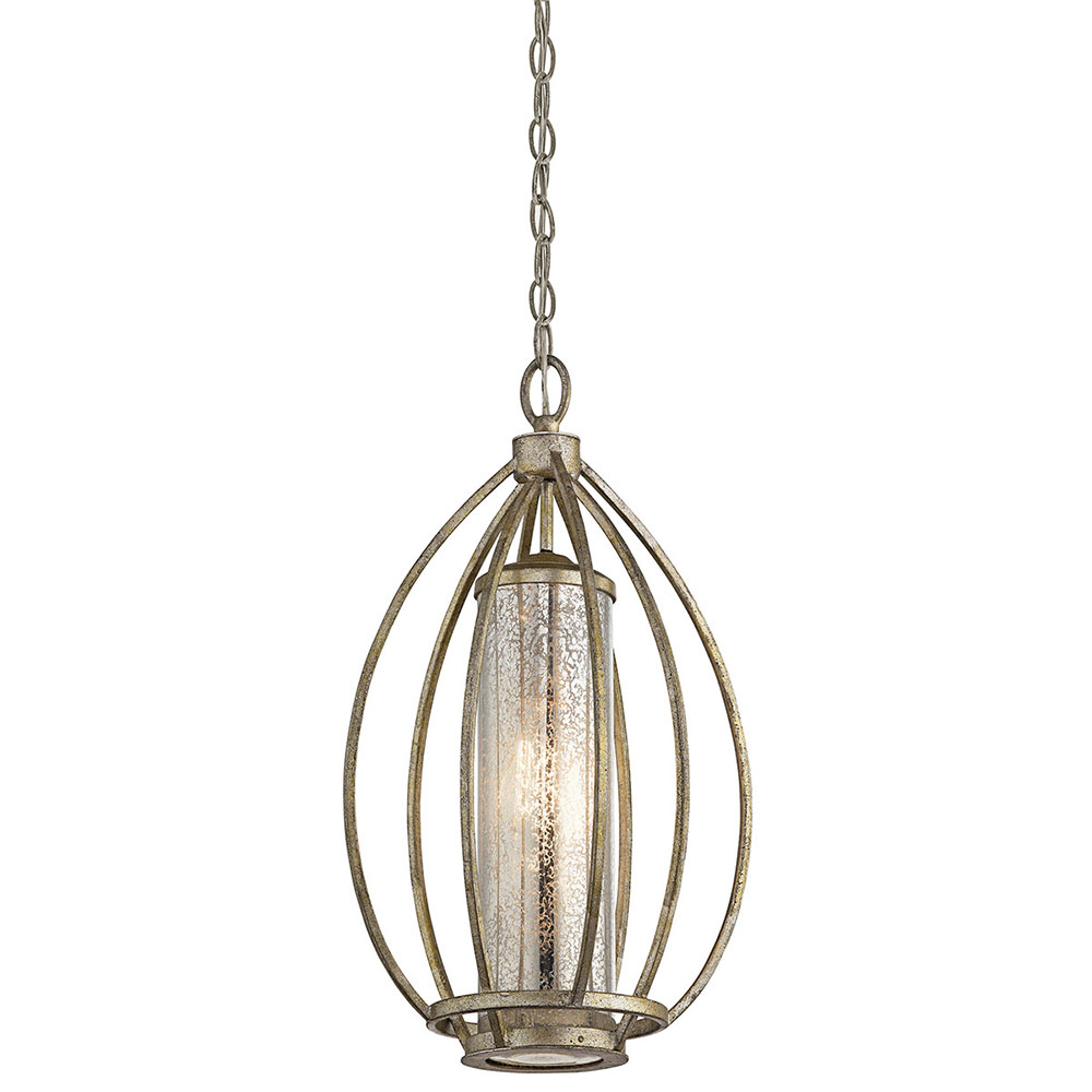 Kichler 43452SGD Savanna Contemporary Sterling Gold Foyer Lighting Fixture.  Loading Zoom
