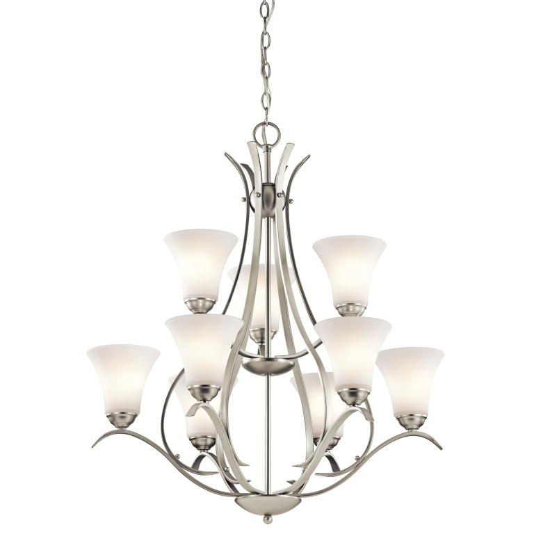 Kichler 43506ni keiran brushed nickel finish 33 25 tall lighting chandelier loading zoom