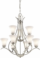 Kichler 43506NIL16 Keiran Contemporary Brushed Nickel LED Lighting Chandelier