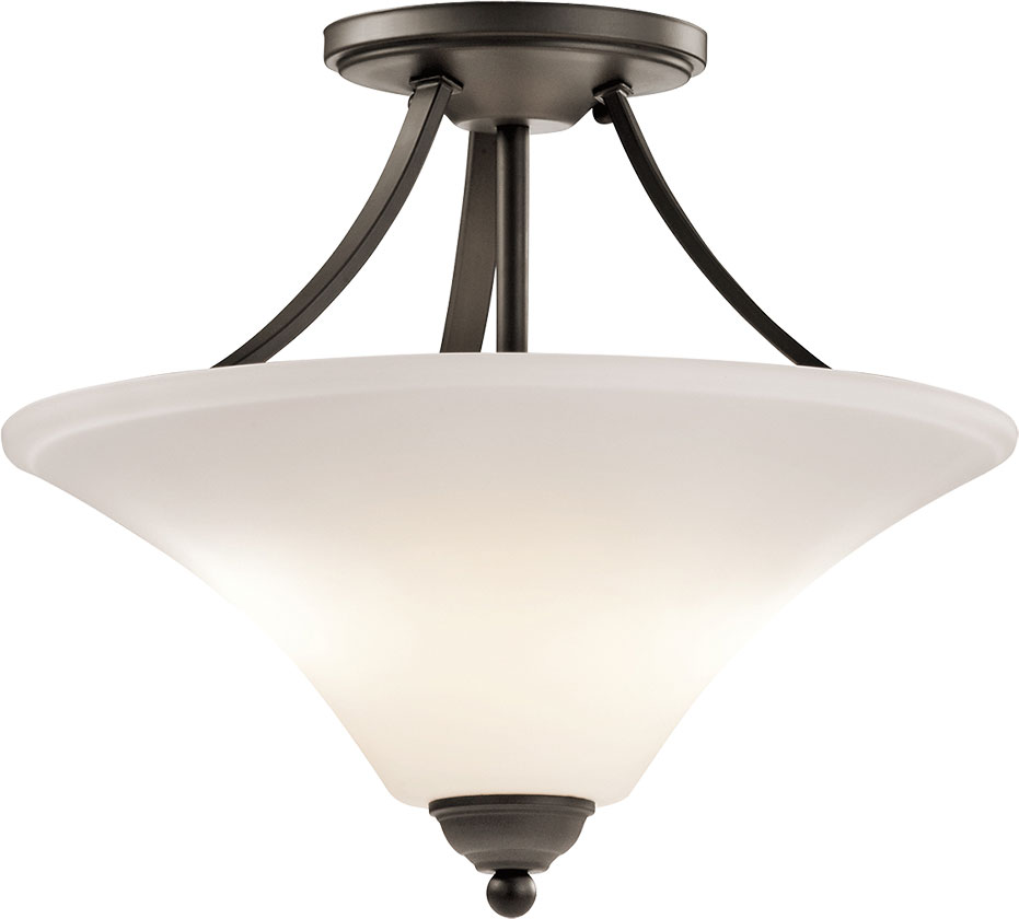 Kichler 43512ozl16 keiran modern olde bronze led flush for Modern led light fixtures