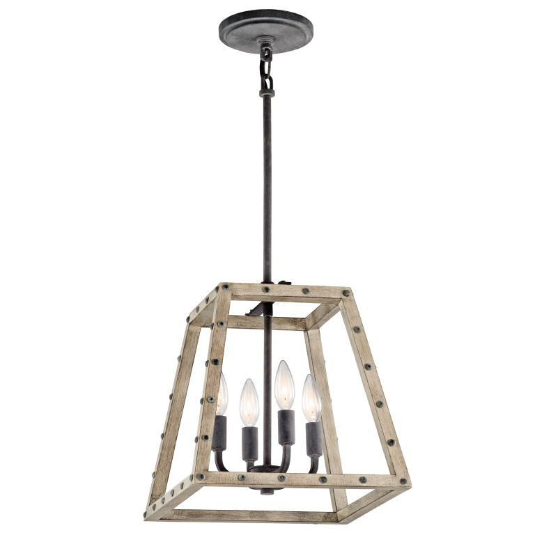 Rustic Foyer Light Fixtures : Kichler dag basford rustic distressed antique gray