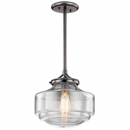 Kichler 43563SNI Keller Shadow Nickel 12  Hanging Pendant Lighting