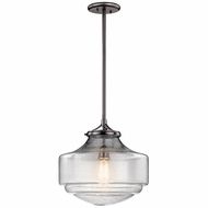 Kichler 43564SNI Keller Shadow Nickel 15  Pendant Hanging Light