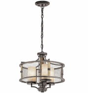 Kichler 43581AVI Ahrendale Anvil Iron Mini Chandelier Light
