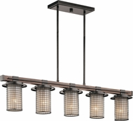 Kichler 43590AVI Ahrendale Contemporary Anvil Iron Island Lighting