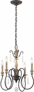 Kichler 43615WZC Kimberwick Weathered Zinc Mini Lighting Chandelier