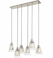 Kichler 43628NI Evie Modern Brushed Nickel Multi Ceiling Pendant Light