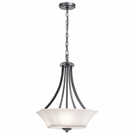 Kichler 43635BK Serena Black Drop Ceiling Lighting