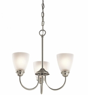 Kichler 43637NI Jolie Brushed Nickel Mini Hanging Chandelier