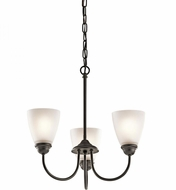 Kichler 43637OZ Jolie Olde Bronze Mini Chandelier Light