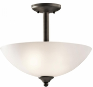 Kichler 43641OZ Jolie Olde Bronze Ceiling Light Fixture