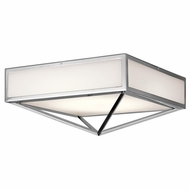 Kichler 43649CHLED Savoca Contemporary Chrome LED Flush Mount Ceiling Light Fixture