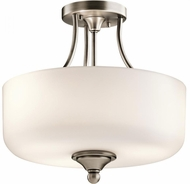 Kichler 43655AP Lilah Antique Pewter Flush Lighting