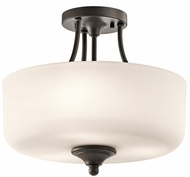 Kichler 43655OZ Lilah Olde Bronze Flush Mount Lighting