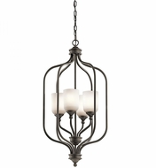 Kichler 43657OZ Lilah Olde Bronze Foyer Light Fixture