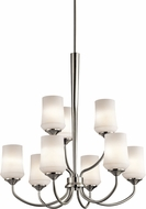 Kichler 43666NIL16 Aubrey Brushed Nickel LED Chandelier Lighting