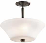 Kichler 43669OZ Aubrey Olde Bronze Flush Mount Light Fixture