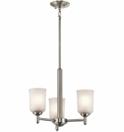 Kichler 43670NI Shailene Brushed Nickel Mini Chandelier Lighting