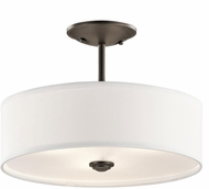 Kichler 43675OZ Shailene Olde Bronze Flush Mount Lighting Fixture