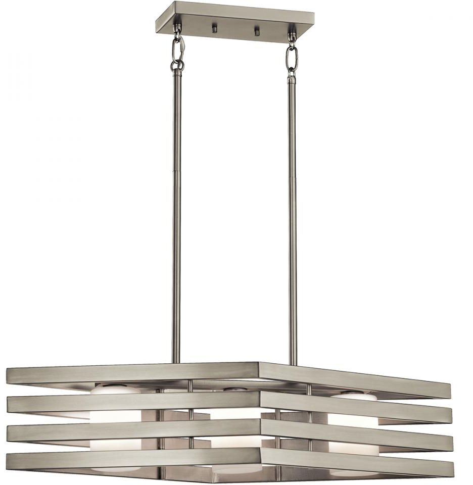 Kichler 43686ni Realta Contemporary Brushed Nickel Halogen Kitchen Island Light Loading Zoom