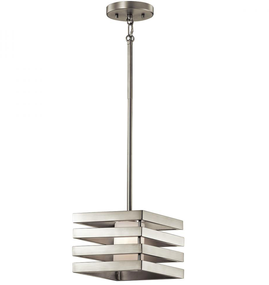kichler ni realta contemporary brushed nickel halogen mini ceiling pendantlight loading zoom. kichler ni realta contemporary brushed nickel halogen mini
