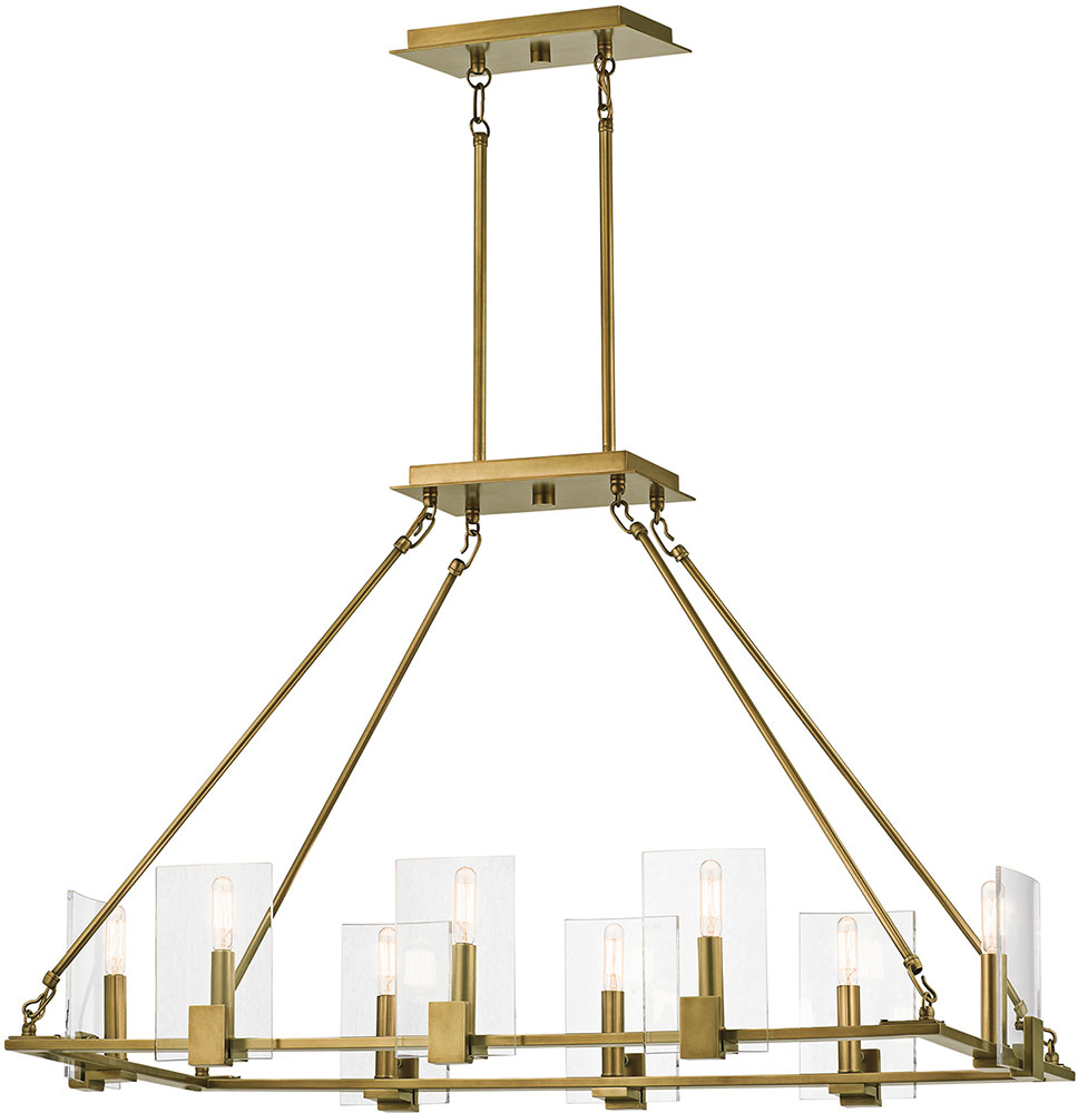 kichler 43703nbr signata modern natural brass kitchen island
