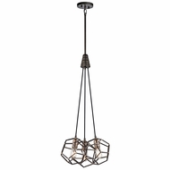 Kichler 43717RS Rocklyn Contemporary Raw Steel Multi Pendant Light