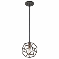 Kichler 43719RS Rocklyn Contemporary Raw Steel Mini Pendant Lamp