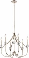 Kichler 43720PN Eloise Modern Polished Nickel Mini Chandelier Light