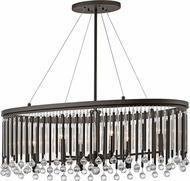 Kichler 43725ESP Piper Contemporary Espresso Island Light Fixture