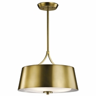 Kichler 43744NBR Maclain Natural Brass Pendant Light Fixture