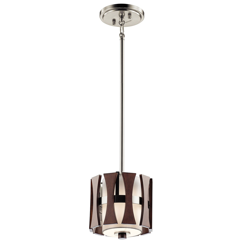 Kichler 43755aub cirus modern auburn stained mini hanging for Modern hanging pendant lights
