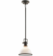 Kichler 43764OZ Hatteras Bay Nautical Olde Bronze Mini Drop Ceiling Light Fixture