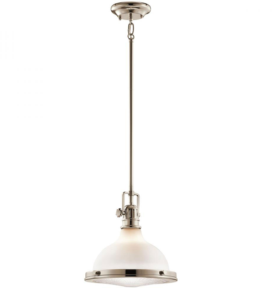 Kichler 43765PN Hatteras Bay Nautical Polished Nickel Mini Pendant