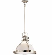 Kichler 43767PN Hatteras Bay Nautical Polished Nickel Hanging Light