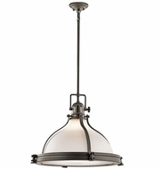 Kichler 43768OZ Hatteras Bay Nautical Olde Bronze Pendant Light Fixture