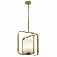 Kichler 43784NBR City Loft Modern Natural Brass Drop Ceiling Light Fixture