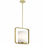 Kichler 43785NBR City Loft Contemporary Natural Brass Mini Pendant Light